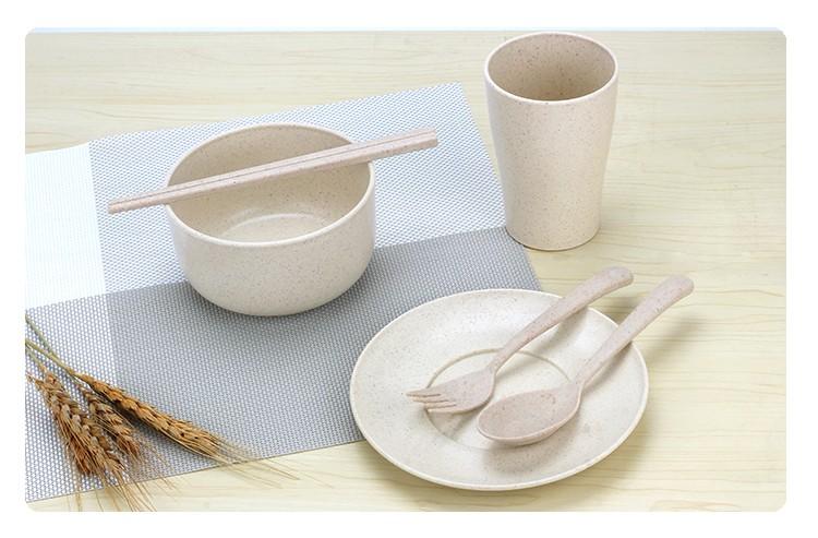 苏州小麦秸秆餐具