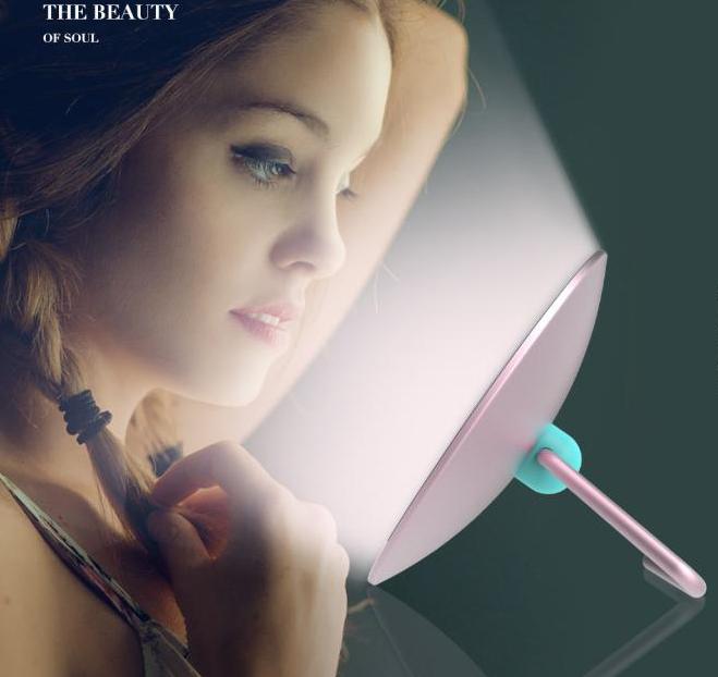 南京礼品批发 日化礼品定制 LED美妆镜时刻美美哒