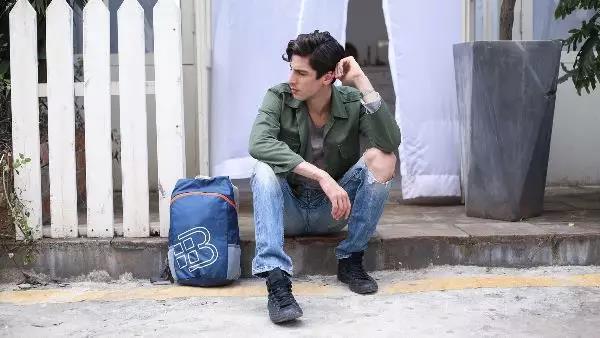 维仕蓝折叠背包